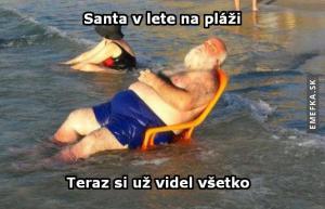 Santa na dovolené