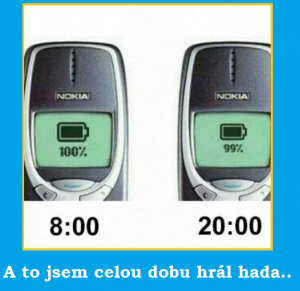 Nokia - výdrž baterie