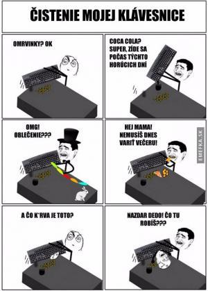 Čistění klávesnice