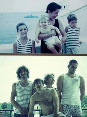 Hezká rodinná fotka
