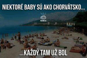 Chorvatsko a baby