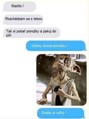 Dobby dostal ponožku