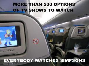 Televize v letadle