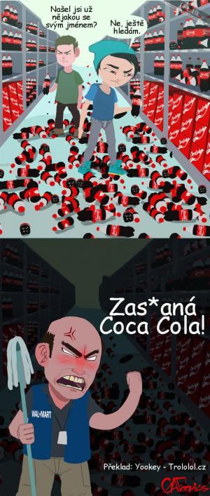 Jména na etiketách Coca Coly