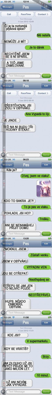 Sms konverzace se psem