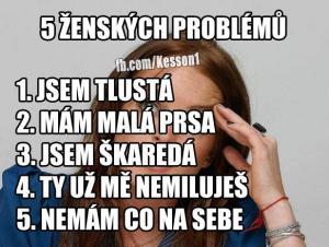 5 ženskýh problémů