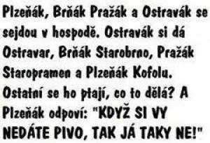 Když se v hospodě sejde Plzeňák, Brňák a Pražák