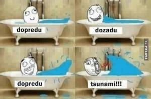 Tsunami ve vaně