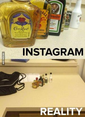 Instagram vs. realita:D