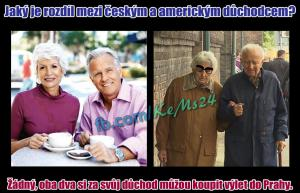 Český a americký důchod