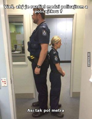 Rozdíl mezi policistou