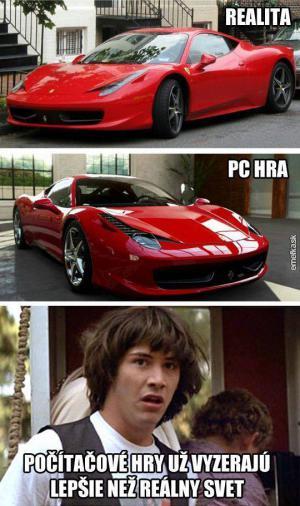 Realita vs. pc hra