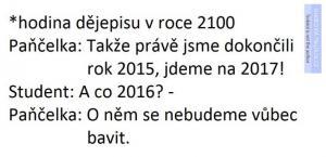 Hodina dějepisu v roce 2100