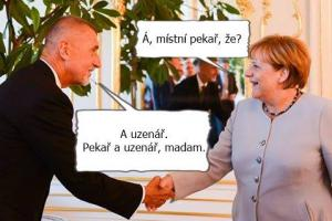 Merkelová a Babiš