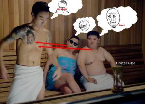 V sauně