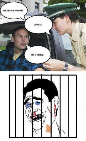 Vtípkování s policistkou