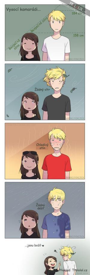 Výhoda vysokých kamarádů