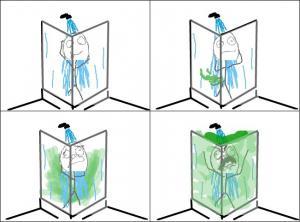 Prd ve vaně