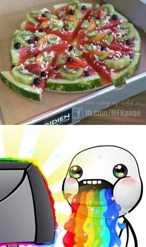 Melounová pizza