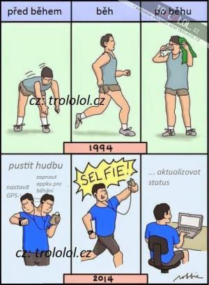 Běh - dříve a dnes