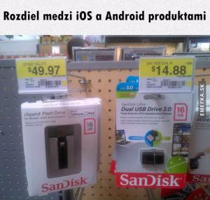 iOS vs. Android produkty
