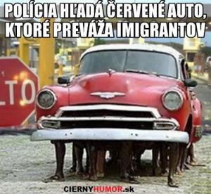 Policie hledá auto s imigranty