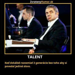Opravdový talent