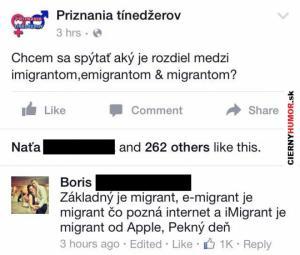 Rozdíl mezi imigrantem, emigrantem a migrantem