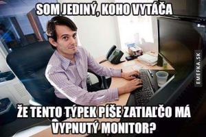 Vypnutý monitor