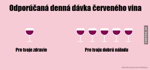 Doporučená denní dávka vína