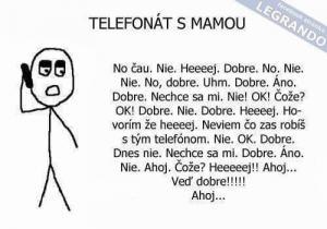 Telefonát s mámou