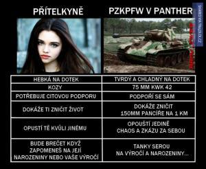 víte, jaký je rozdíl mezi ženou a tankem?