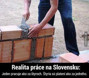 Práce na Slovensku