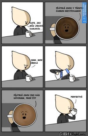 Kafe, jsi můj jediný kamarád