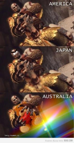 america vs japan vs australia