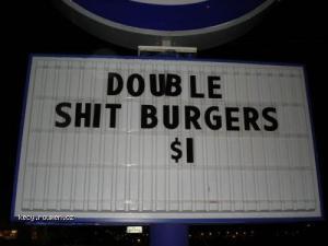 double shit burgers