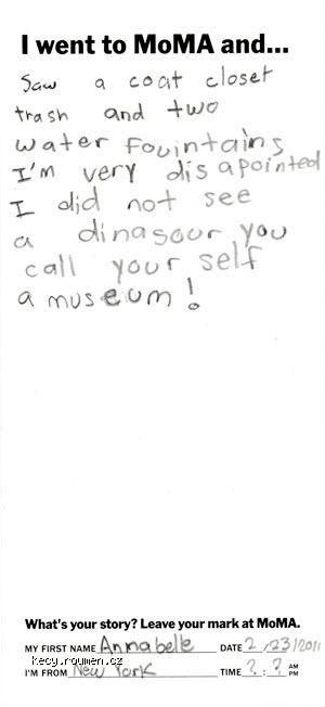 Kid Writes The Most Accurate Critique of Modern Art