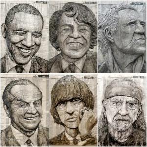 Amazing Celebrity Phone Book Carving Art