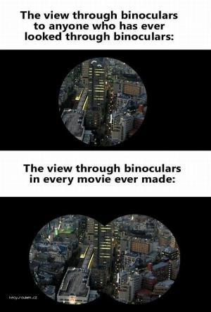 X The view through