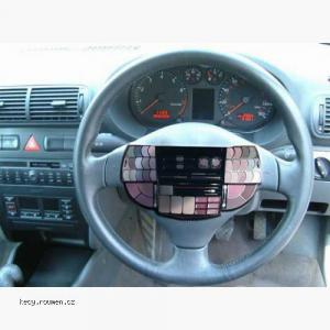 womans car steering wheel