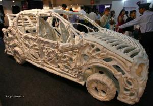 skeleton car