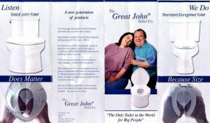 Toilet for Fat People
