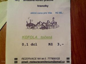 akcni cena 15 Kc za panak kofoly