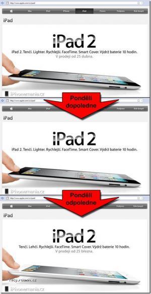 iPad2 Apple CZ website