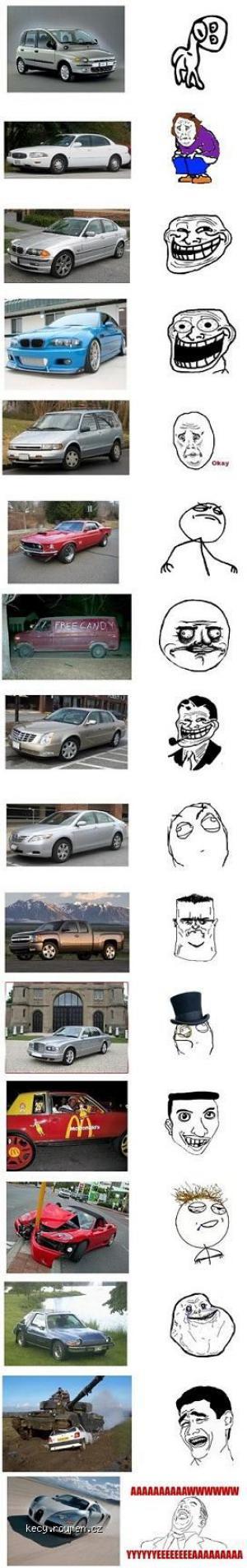auta jako memy