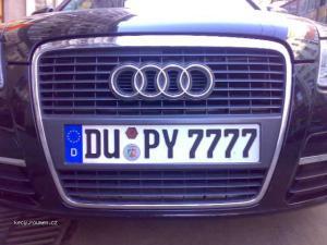 rude license plate