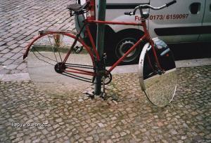 mirror on the bike
