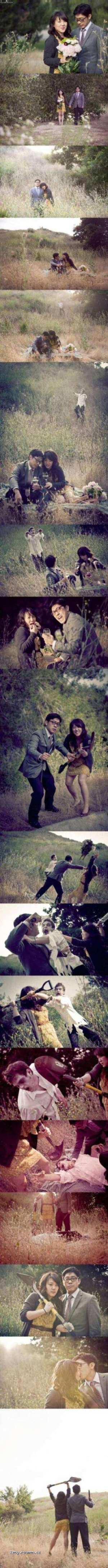 wedding picture zombie