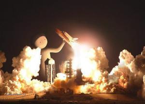 raketoplan startuje