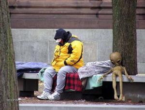alien bezdomovec